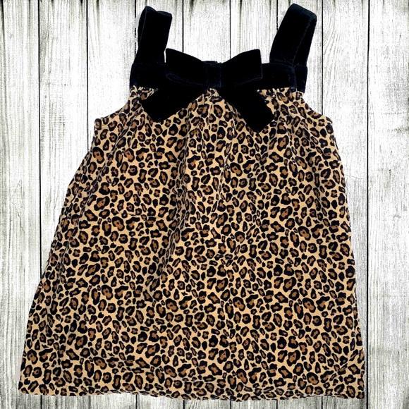Gymboree - Kitty Velvet Leopard Black Jumper Dress